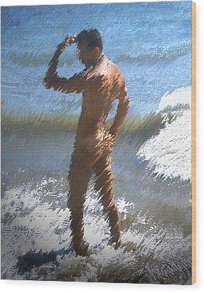 Ocean Thoughts Wood Print by Kurt Van Wagner