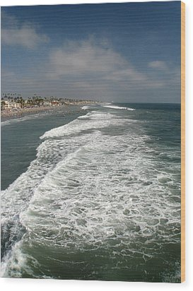 Ocean View Wood Print by Kim Pascu