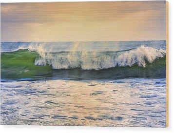 Ocean Waves Wood Print by Dapixara Art