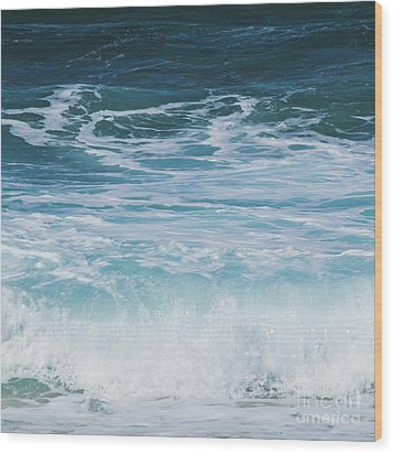 Wood Print featuring the photograph Ocean Waves From The Depths Of The Stars by Sharon Mau