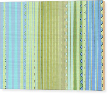 Oceana Stripes Wood Print