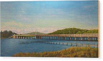 Wood Print featuring the painting Oceanic Bridge by Joe Bergholm
