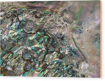 Oceanic Eruption Wood Print by Joy Gerow