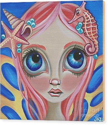 Oceanic Fairy Wood Print by Jaz Higgins