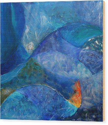 Ocean's Lullaby Wood Print by Aliza Souleyeva-Alexander