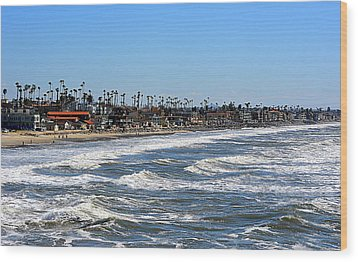 Wood Print featuring the photograph Oceanside by AJ Schibig