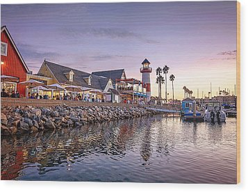 Oceanside Harbor Wood Print by Ann Patterson
