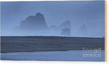 Wood Print featuring the photograph Oceanside Hoodoos Along The Oregon Coast by Max Allen