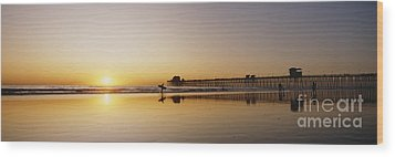 Oceanside Pier, California Wood Print by Bill Schildge - Printscapes