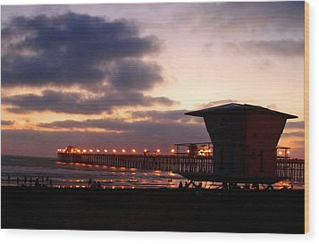 Wood Print featuring the photograph Oceanside Pier by Christopher Woods