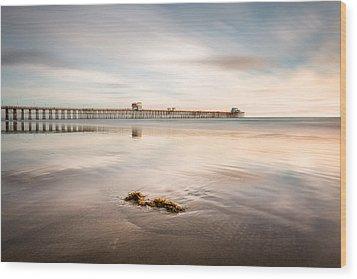 Wood Print featuring the photograph Oceanside Pier Pastels by Alexander Kunz