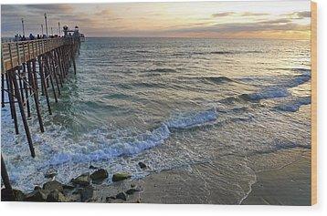 Oceanside Wood Print by Skip Hunt
