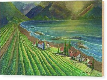 Sunset Vineyard  Wood Print