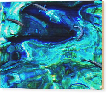 Wood Print featuring the photograph Ocean Reflections  by Colette V Hera  Guggenheim