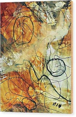 Ochre 43 Wood Print by Shelley Graham Turner