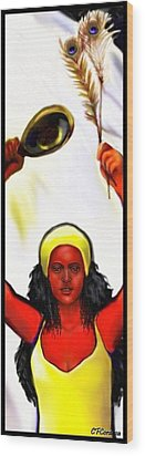 Ochun -the Goddess Of Love And Beauty  Wood Print by Carmen Cordova