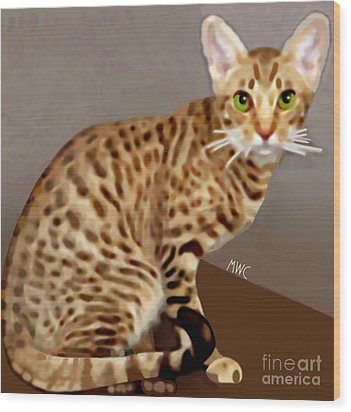 Ocicat Wood Print by Marian Cates