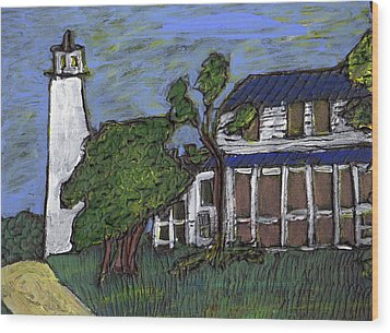 Ocracoke Island Light House Wood Print