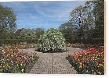 Octagon Garden At Cantigny Park Wood Print by Rosanne Jordan