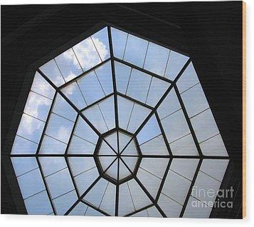 Octagon Skylight Wood Print by Yali Shi