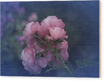 Wood Print featuring the photograph October 2016 Roses No. 2 by Richard Cummings