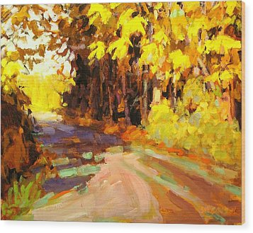 October Wood Print by Brian Simons