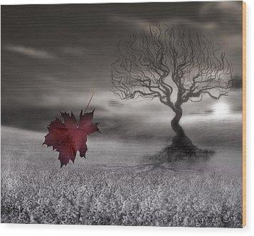October Fades Wood Print
