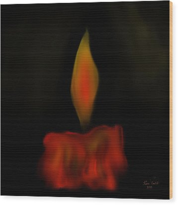 Wood Print featuring the painting October Flame by Kevin Caudill
