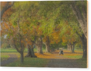October Morning At Easton Country Club Wood Print