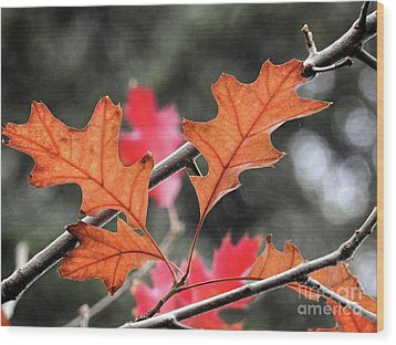 Wood Print featuring the photograph October by Peggy Hughes