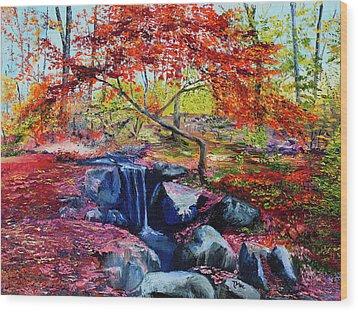 October Riot Wood Print