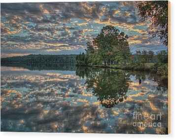 Wood Print featuring the photograph October Skies by Douglas Stucky