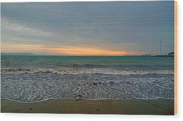October Sunrise Wood Print by Anne Kotan