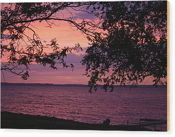 Wood Print featuring the photograph October Sunrise On Winnebago by Jack G  Brauer