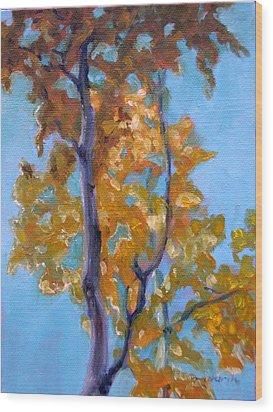 October Wood Print by Tahirih Goffic