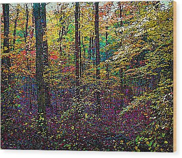 October Woods Wood Print