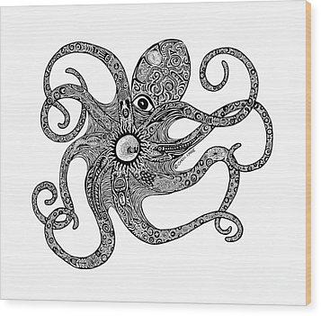 Octopus Wood Print by Carol Lynne