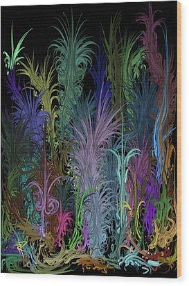 Octopus' Garden Wood Print by Russell Pierce