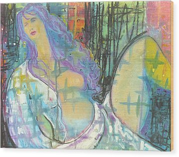Odalisque Wood Print by Todd  Peterson