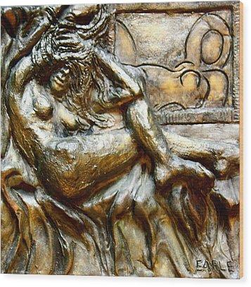 Odalisques Wood Print by Dan Earle