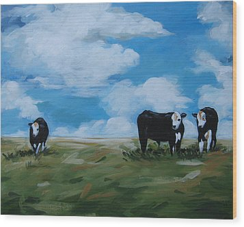 Odd Cow Out Wood Print