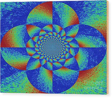 Oddly Mandala Wood Print by Chuck Taylor