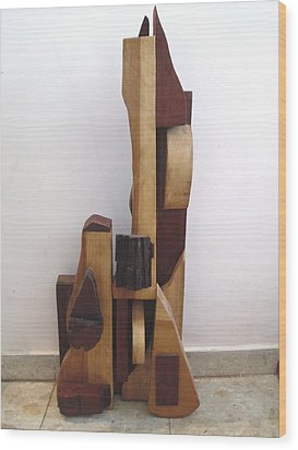 Wood Print featuring the sculpture Ode To A Guitar by Esther Newman-Cohen