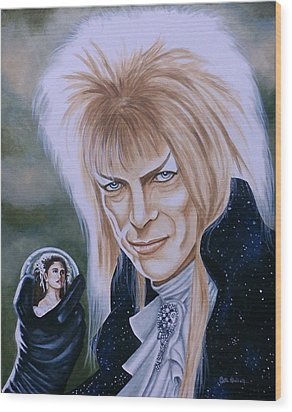 Wood Print featuring the painting Ode To The Goblin King by Al  Molina