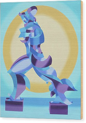 Ode To Umberto Boccioni Wood Print by Mark Webster