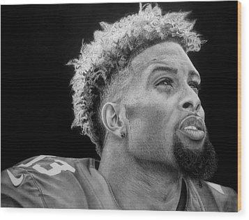Odell Beckham Jr. Drawing Wood Print