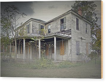 Odenton House Wood Print by Brian Wallace