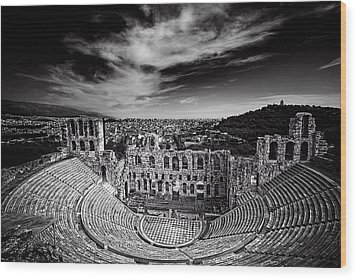 Odeon Of Herodes Atticus Wood Print