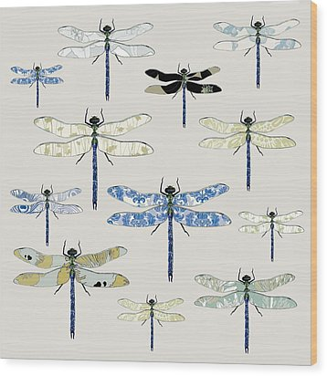 Odonata Wood Print by Sarah Hough