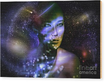Of The Stars Wood Print by Shadowlea Is